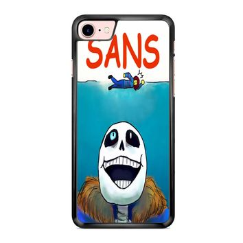 Undertale Sans Jaws Movie Poster iPhone 7 Case