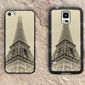 Eiffel Tower old Tower iphone 4 4s iphone  5 5s iphone 5c case samsung galaxy s3 s4 case s5 galaxy note2 note3 case cover skin 181