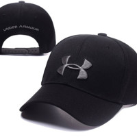Black Under Armour Embroidered Outdoor Baseball Cap