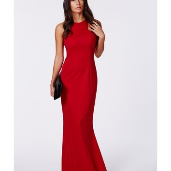 c4850faa8ab9 Missguided - Kaisa Crepe High Neck Maxi from Missguided