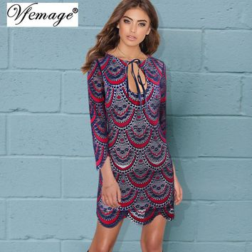 Vfemage Sexy Keyhole See Through Lace Girl Ladies Womens Party Club Beach Cool Chic Fashion Fitted Bodycon Short Mini Dress 4708