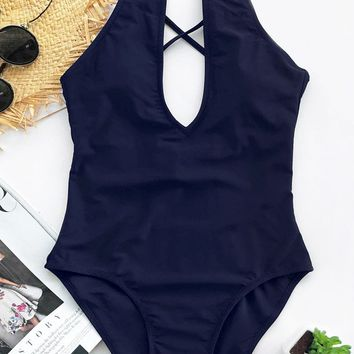 Cupshe Broken Ocean One-piece Swimsuit