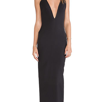 SOLACE London Murphy Maxi Dress in Black