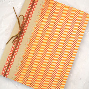 Altered Composition Notebook Orange, Red, White