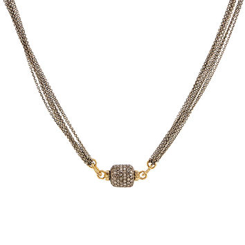 Dana Kellin Fine Jewelry Pave Diamond Tube Pendant Necklace