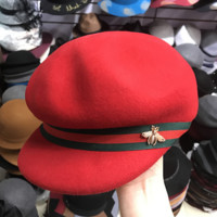 Gucci Fashion Trending Retro Bee Embroider Red Green Stripe Hat Cap In Red G
