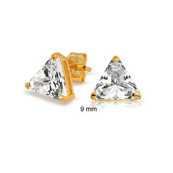 Bling Jewelry Golden Triangle Stud