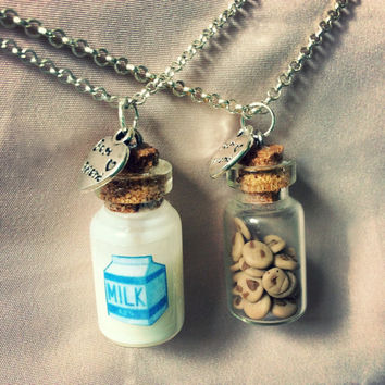 Milk and cookies best friend necklaces