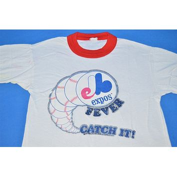 80s Montreal Expos Baseball Fever Glitter Iron On t-shirt Youth Small