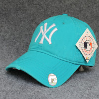 Blue Color NY Cotton Baseball Cap