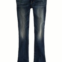 AEO 's Skinny Kick Jean (Authentic Dark Indigo)