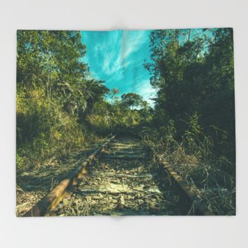 Abandoned Throw Blanket by Mixed Imagery