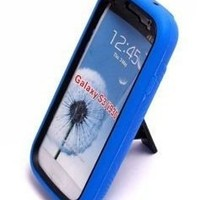 Aimo Wireless SAMI9300PCMX002S Guerilla Armor Hybrid Case with Kickstand for Samsung Galaxy S3 i9300 - Retail Packaging - Black/Blue