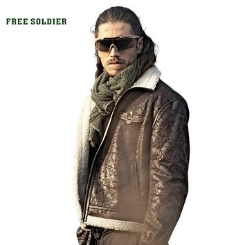FREE SOLDIER outdoor sports tactical military men's uniform jacket pilot cloth for camping or hiking large size
