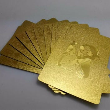 Plastic Playing Cards Gold Foil Poker