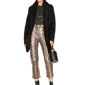 ThePerfext Collette Fuzzy Long Sweater in Black | FWRD