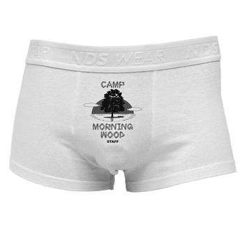 Camp Morning Wood Staff - B&WMens Cotton Trunk Underwear