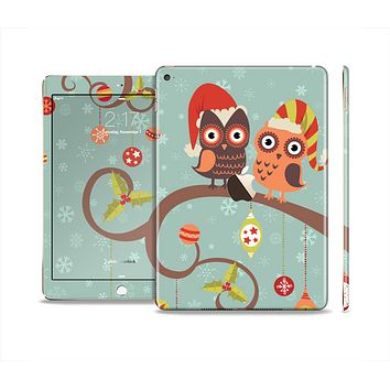 The Retro Christmas Owls with Ornaments Skin Set for the Apple iPad Air 2