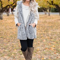 Calder Fuzzy Vest (Heather Grey)