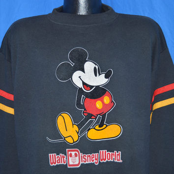 80s Mickey Mouse Walt Disney World Sweatshirt Extra-Large