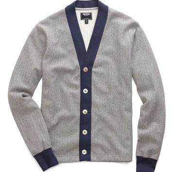 Contrast Cardigan in Grey