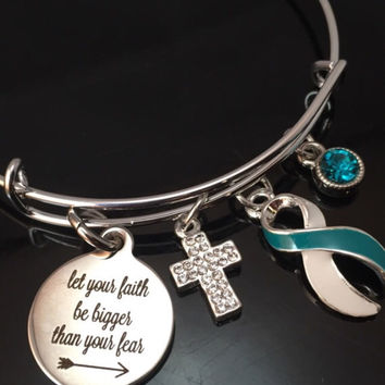 Let Your Faith be Bigger than Your Fear / Charm Bracelet