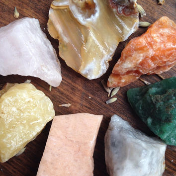 Crystal Collection Bohemian Decor Crystal Set Raw Crystal Healing Crystals and Stones Rocks and Geodes Alter Crystals Chakra Stones Om Yoga