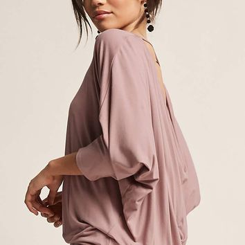 Cowl-Back Dolman Top