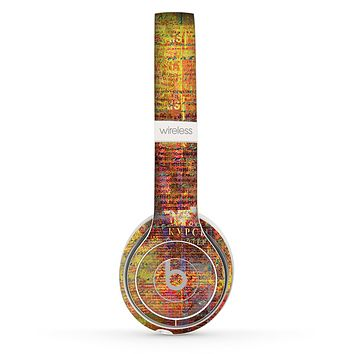 The Bright Orange Torn Posters Skin Set for the Beats by Dre Solo 2 Wireless Headphones