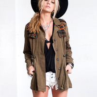 Tribal Military Jacket