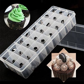 24pcs Stainless Steel Nozzle Cake Diy Decorating Baking Tool Tips Cream Tulip Rose Flowers Pastry Cupcake Maker Tools Bakeware