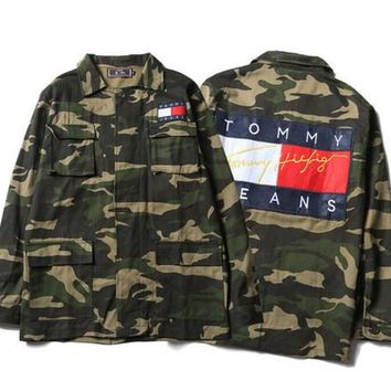 OFF WHITE Jackets Men women Hip Hop Camouflage Military Camo Superstar Jacket kanye west Outwear Striped Canvas Skull Justin Bieber Jacket