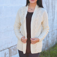Lace Trace Knit Cardigan {Cream}