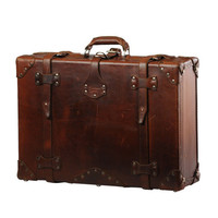 "A Handmade Chestnut Leather Suitcase, Luggage, Valise ""They'll Fight Over When You're Dead"" (Medium)"