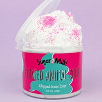 FREE SHIPPING Frosted Animal Cookie Whipped Soap/ Soap Fluff / Natural Soap / Homemade Soap / Handmade Soap