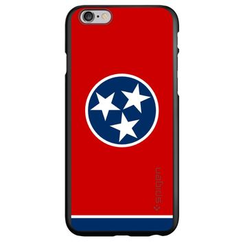 DistinctInk® Spigen ThinFit Case for Apple iPhone or Samsung Galaxy - Tennessee State Flag