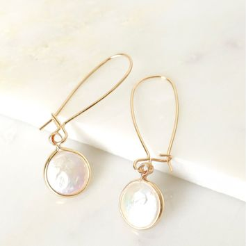 Melted Pearl Drop Earrings