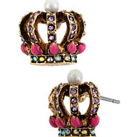 Betsey Johnson Crown Stud Earrings | Dillard's Mobile