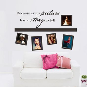 Quote Every Picture Have A Story Photo Frame Wall Stickers