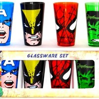 Marvel Glass Mug Set - Heroes