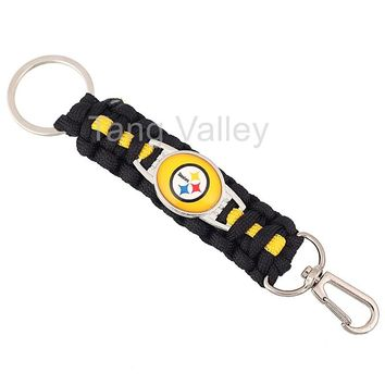 New Pittsburgh Steelers Paracord Keychain Drop Shipping! KY0003