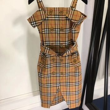 Burberry Vintage Check Button-Down Dress