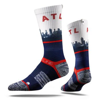 Strideline Atlanta Hawks City View Adult Crew Socks