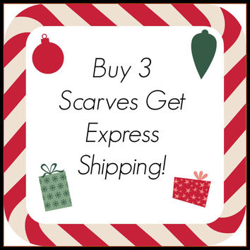 Buy 3 Scarves and Get Free Express Shipping Upgrade - Women Scarves, Winter Fashion, Fashion Accessory, Gift Ideas, Fashion Gifts, Christmas