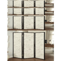 French Script 3 Panel Folding Screen - Coaster 900074