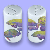 Manatee  Ceramic Salt Pepper Shakers