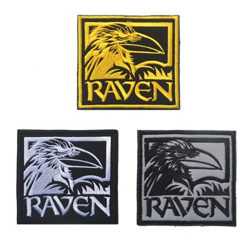 Raven pathes Hook back sports morale patch outdoor  tactical combat uniform biker MC outdoor for coat vest Custom