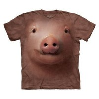 The Mountain Pig Face Adult T-Shirt