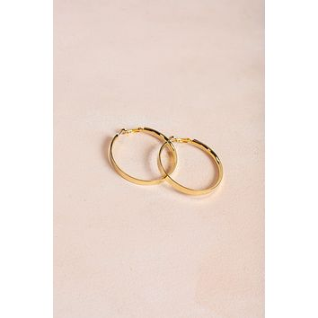 Taylor Gold Hoop Earrings