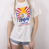 Vintage I Support Our Troops T Shirt